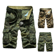 Mens Shorts Casual Army Cargo Combat Camo Camouflage Sports Short Pants Trousers