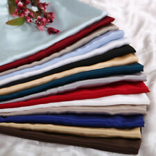 SOFT HOTEL QUALITY SATIN POLYESTER SILK TWIN 4PC SHEET SET (FLAT+FITTED+PILLOWS)