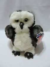 "Gund Owl Plush Stuffed Toy 8"" White Black Soft Cute Woote Forest Animals"