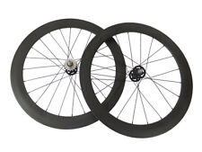Track fixed gear Single Speed 38+50mm Tubualr Novatec 165/166 Hubs Carbon wheels