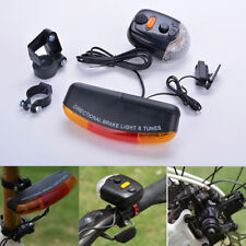 Hot 7 LED Bicycle Bike Tail Turn Signal Directional Brake Light Lamp 8sound Horn