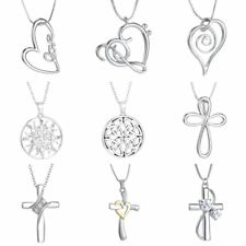 Fashion Sliver Faith Hope Love Cross Heart Pendant Necklace Jewelry Party Gift