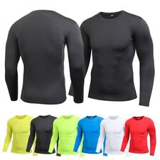 Mens Quick-Dry Compression Base Layer Top Blouse Thermal Under Skin Sports Gear