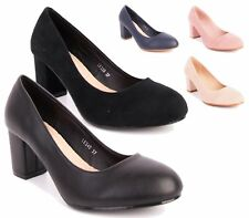 WOMENS MARY JANE HIGH HEEL FAUX SUEDE / LEATHER PARTY PUMPS COURT SHOES SIZE