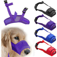 Dog Pet Mask Bark Bite Mesh Mouth Muzzle Grooming Anti Stop Chewing PR