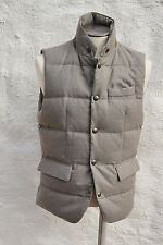 NEW Ralph Lauren Purple Label Lloyd Goose Down Wool Vest Gilet Grey Large $1300