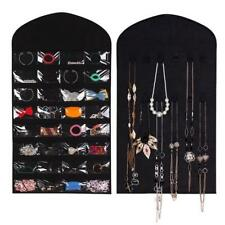 Jewelry Hanging Storage Bag Earrings Necklace Hanging Organizer 32 Pocket Holder
