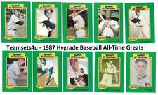 1987 Hygrade All-Time Greats Baseball Set ** Pick Your Team **