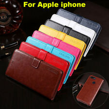 Magnetic Leather Wallet Flip Stand Card Cover Cases Case Shell For Apple Iphone
