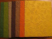 Embossed Card Fronts: Autumn Leaf Choose Color Fall Handmade Card Stampin Up