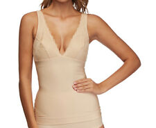 Nearly Nude Women's Thinvisible Microfibre Firming Camisole w/ Lace - Almond