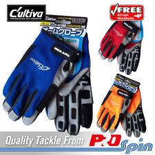 Owner Cultiva Full Finger Game Fishing Jigging Gloves - Choose Size and Colour