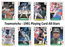 1991 Playing Card All-Stars Baseball Set ** Pick Your Team **