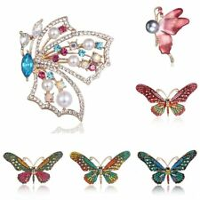 Fashion Women Crystal Rhinestone Butterfly Animal Brooch Pin Charm Jewelry Gift