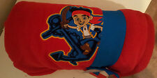 """Disney-Store-Jake-and-the-NeverLand-Pirates-Red-50""""x60""""-Throw-Embroidered-Poly"""