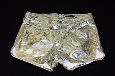 EU Size 38, 40 DIESEL BLACK GOLD Women Shorts 100% LAMB LEATHER MADE IN ITALY