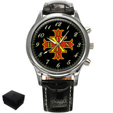 RED CROSS OF CONSTANTINE MASONIC GENTS MENS WRIST WATCH  GIFT ENGRAVING