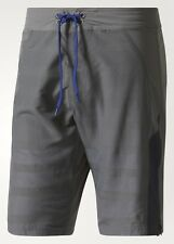ADIDAS CrazyTrain Elite Grey Blue Stretch Woven Training Shorts NEW Mens Sz 34