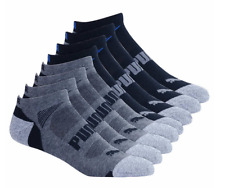 Puma Men's No Show Socks 8-pair Arch Support and Sport Cushion L XL Black or Wht