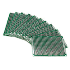 10pcs Double Side 5x7cm PCB Strip board Printed Circuit Prototype Track Z4O6