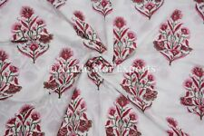 Indian Hand Block Print Dress Making Fabric Sanganeri Cotton Fabric By The Yard