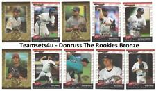 2001 Donruss The Rookies Bronze Baseball Set ** Pick Your Team **