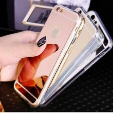 For iPhone Cases & Covers Luxury Ultra Thin Soft Silicone Mirror Gel Case Cover