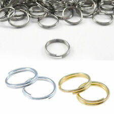 100Pcs Metal Double 7/8/10mm Gift Jump Connectors Gold Split Rings Silver Open
