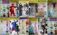 CHOOSE one CHILD's Toddler's & Baby's Costume PATTERN princess animals wizard