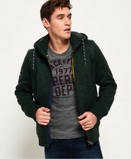 New Mens Superdry Expedition Zip Hooded Jacket Haze Green Grit