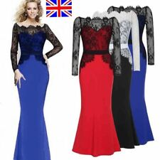 Womens Maxi Lace Dress Ladies Evening Party Long Bridesmaid Wedding Party Dress