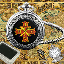 RED CROSS OF CONSTANTINE MASONIC  POCKET WATCH GIFT ENGRAVING