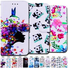 Wallet PU Leather Protective Painted Flip Stand Case Card Slot Cover For Samsung