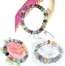 Beads Crystal 8mm Stretch Bangle Loose Woman Bracelet New Multicolor Faceted