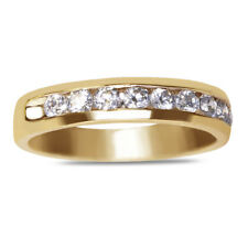 1/3CT Diamond Anniversary Eternity Band and Wedding Ring 10K SOLID Yellow Gold