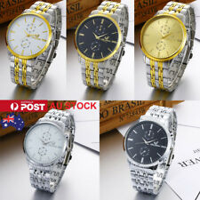 Fashion Men's Bussiness Luxury Watch Formal Wristwatch Stainless Steel Watches
