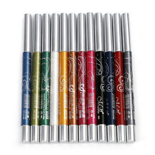 12 Color Glitter Lip liner Eye Shadow Eyeliner Pencil Pen Makeup Set