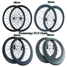 Carbon fiber wheels Tubular Clincher 24 38 50 60 88mm road bike wheels 700C