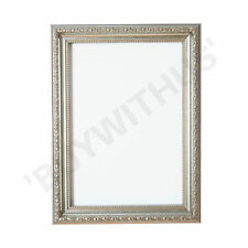 Ornate Swept Shabby Chic Picture Frame Photo Frame Poster Ornate Decor in Silver