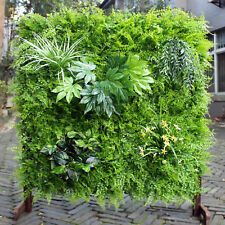 ULAND Artificial Hedge Vertical Garden Green Wall Plant UV Stabalised 1M x 1M