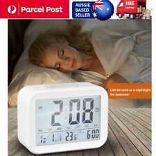 Digital Alarm Clock Creative Large LCD Display Snooze Bedroom Nightlight FK