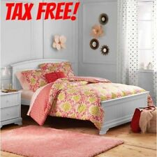Kids Damask Bedding Comforter Set Coral Bedding Twin Full/Queen Medalion Pattern