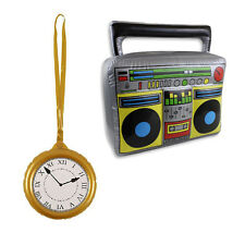 80s 90s Inflatable Hip Hop Flava Rapper B-Boy inflatable Clock Boom Box Stereo