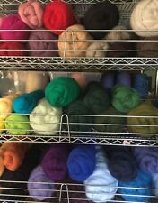 Wool Roving--Select from ASSORTED Dyed Shades. 2 oz. Fiber to Felt. Spin Yarn