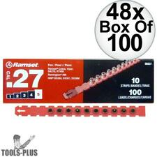 """Ramset 5RS27 48x Box of 100 #5 """"Red"""" 27 cal Strip Loads New"""