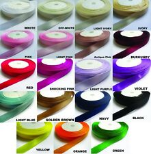 """1/4"""" 3/8"""" 5/8"""" 3/4"""" Polyester Satin Ribbon Tape Trim-Color Choice - 5 Yards-T858"""