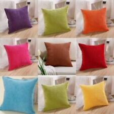 Solid Color Corduroy Square Pillow Case Throw Cushion Cover Home Sofa Bed Decor