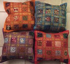 one Silk SOFA Pillow Cushion Cover /Table Runner /Patchwork Handmade/Hand Craft