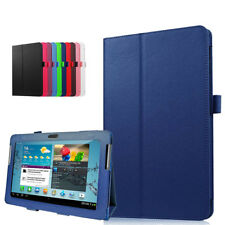 """Leather Folio Case Stand Cover For SAMSUNG Galaxy Tab 2 10.1"""" P7500 P7510 Tablet"""