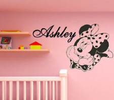 Minnie Mouse Wall Decal with Custom Name / Disney Name Wall Decal / Minnie Mouse